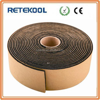 Black Thermal rubber foam insulation tape