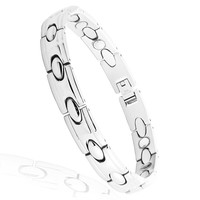 2014 wholesale jewelry 316l stainless steel magnetic bracelet for serving alibaba in spanish
