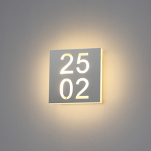 SMD customize room number led wall light 6w