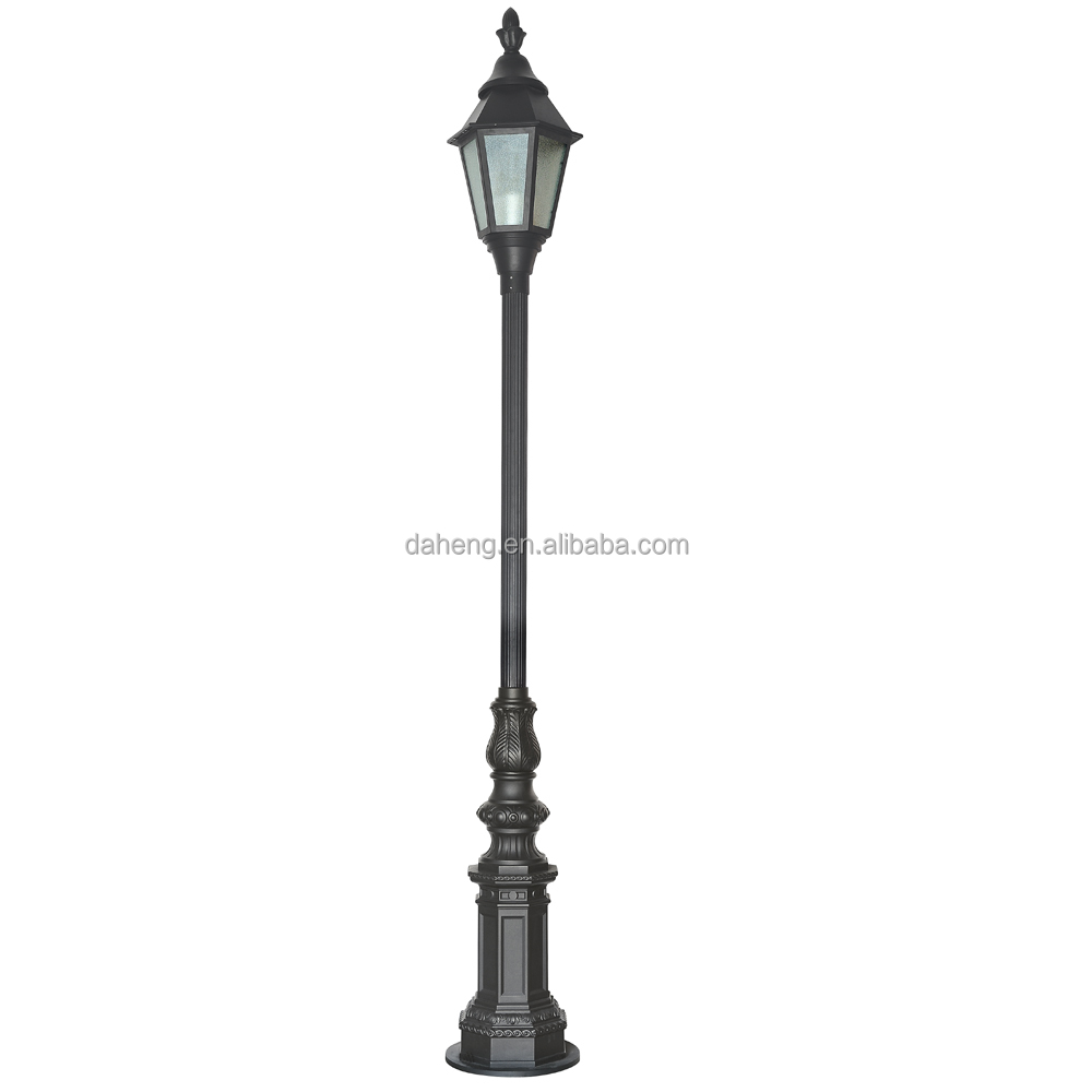 Zhongshan Daheng outdoor aluminum antique garden pole light decorative LED street light lamp Landscape Light Pole made in china
