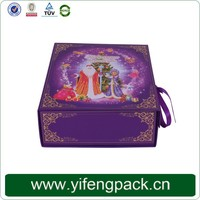 China supplier recycled cardboard packaging boxes,lighted christmas gift boxes,wholesale paper gift box
