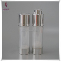 Plastic cosmetic 30ml twist up airless bottle with serum pump