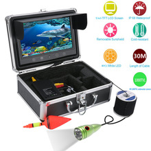 50M 9 Inch Color Monitor 30M Underwater Fishing Video Camera LED Lights Fishing Finder