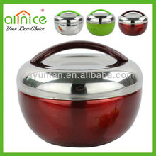 steel wine red food carrire/container/box with apple-shape