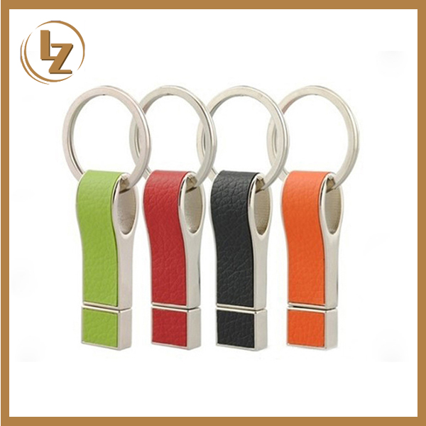 2017 Best Customized Promotion High-End Leather 2GB USB Flash Drive
