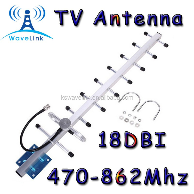 Factory Price 18DBI High Gainn Digital Outdoor UHF VHF TV Yagi Antenna With N Connector 1.5M