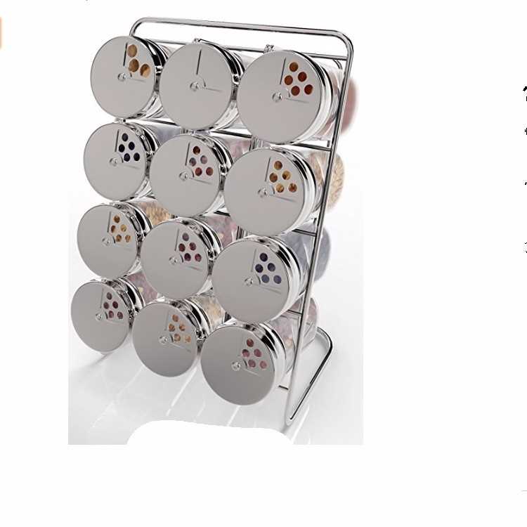 New kitchen organizer racks chrome plate under cabinet 4 tier spice rack