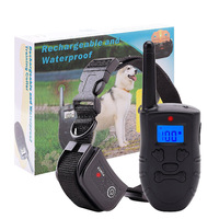 Rechargeable Waterproof 330yd Remote Dog Shock Collar With Beep Vibration and Shock Electronic Collar