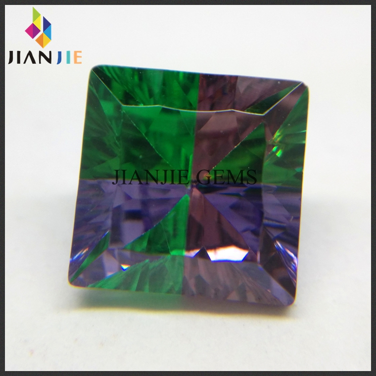 Factory Supplier zambian emerald price multicolor princess cut gem