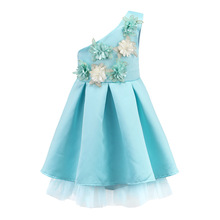 X1128 Kids Girl Baby Princess Flower Party Prom Occasion Evening Wedding Dress