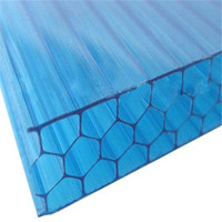 Self-clear honeycomb PC sheet plastic awning for window and door