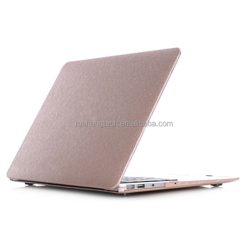 Matt PC and Silk Leather case for macbook Pure Color Factory Supplier case for macbook Eco-friendly Air13'' case for macbook pro