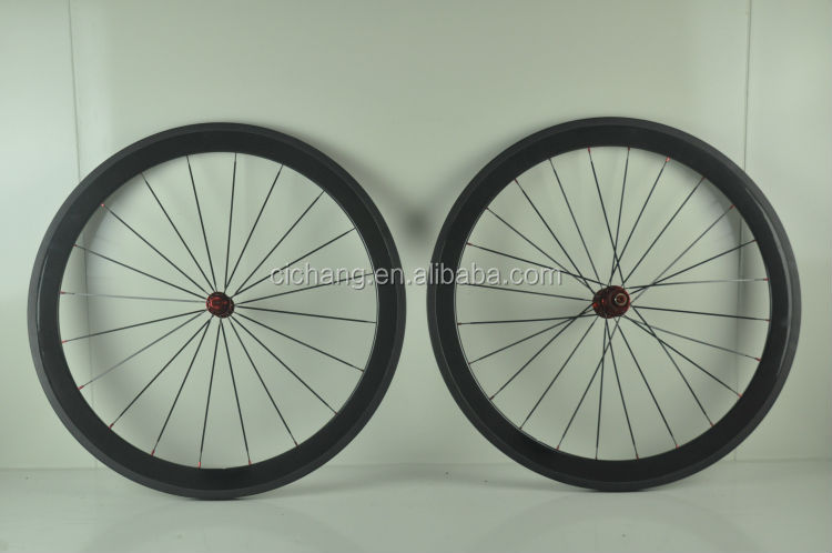 High quality 700c Road Bike Carbon wheels 50mm tubular 20.5mm width glossy/matte spokes road carbon clincher wheelset