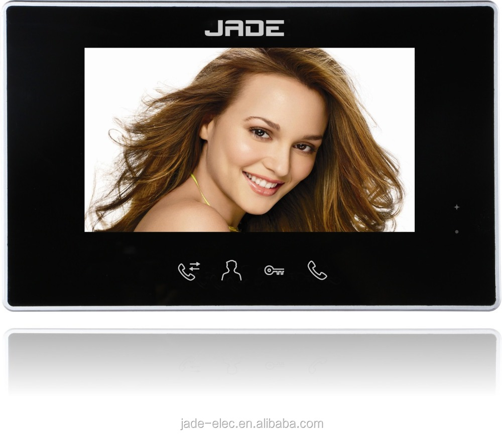"7"" Video Door Bell with Ultra-Slim Design, Support Max. 2 Outdoor Station, 4 Monitors and 2 Extra CCTV"
