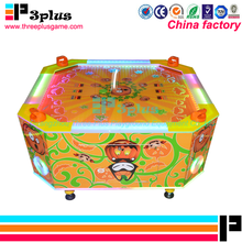 Coin operated square kids game machine air hockey game machine for 4 players
