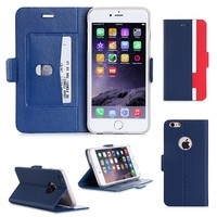 Hot product magnet pu leather phone case for iphone 6 for apple iphone 4.7 inch
