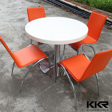 Korean solid surface table top dining table and chairs