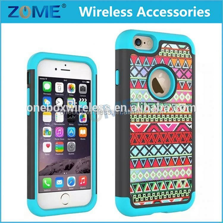 Supply Factory Price 2 in 1 Hybrid Dual Layer PU + PC Mobile Phone Skin Case Covers For iPhone 6S