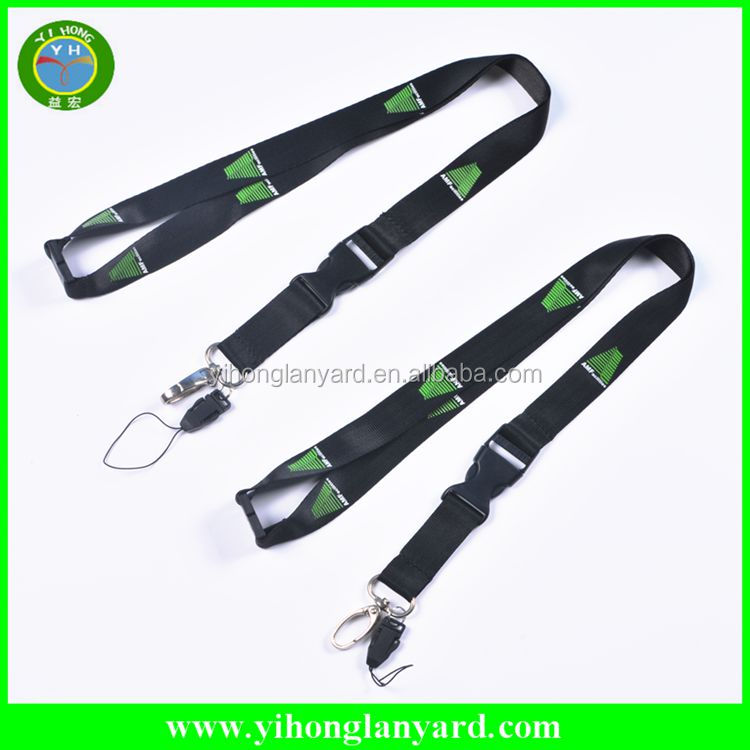 Hot promotional custom silkscreen printed nylon lanyard no minimum order