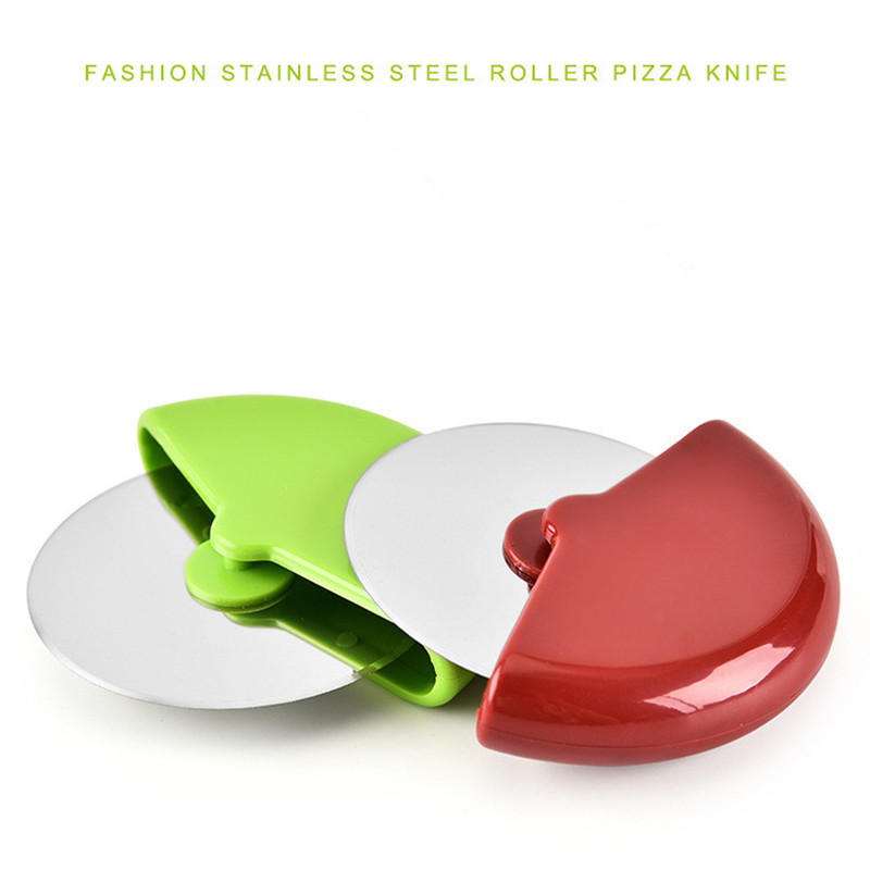 Hot Stainless Steel Pizza Cutter with Plastic Handle