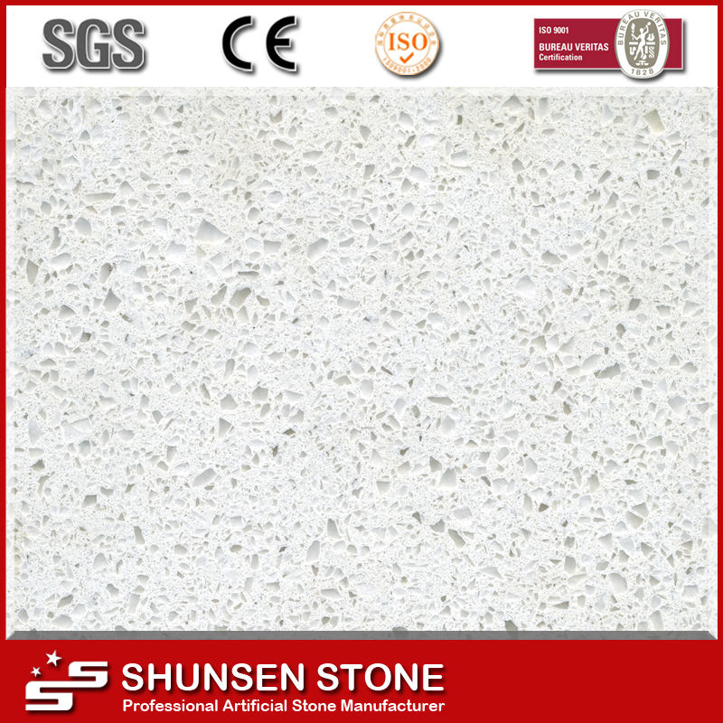 Hot Selling Jade Spot White Artificial Quartz Stone Countertops QZ887