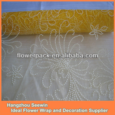 Hot Sell Printed Design Organza Sunflower Tablecloths