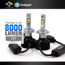 Real Factory 12 volt automotive led lights 4000lm Utral bright 6500K bi-xenon kit h7 Replace h7 can bus led