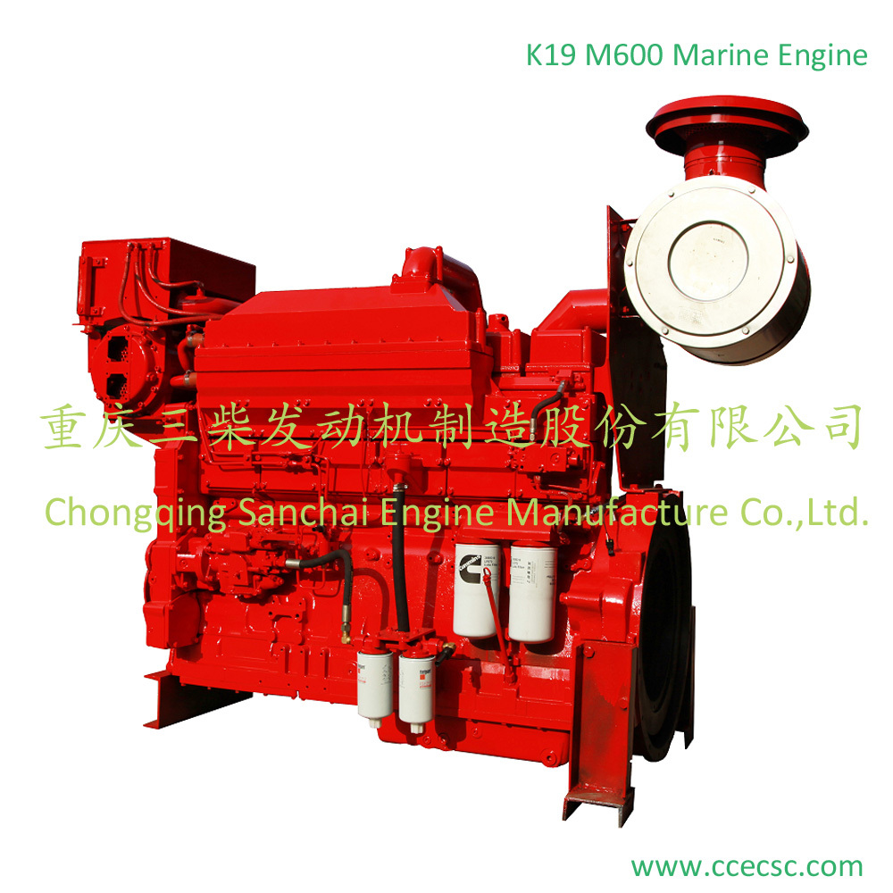 KTA 19 450 HP 525hp marine diesel engine with gearbox for sale