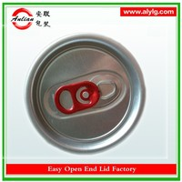 Free sample 250ml 206SOT 58MM energy drink easy open red ring easy open end