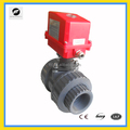 2-way pvc motorized valve motor PVC valves DN40,DN50 for water flow control