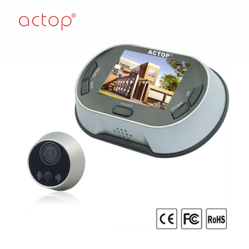 Shenzhen factory ACTOP digital video door viewer 3.5 inch TFT color display screen 170 degree wild angle