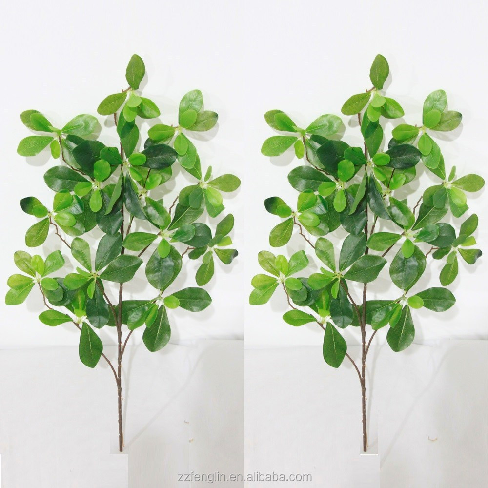 Top quality real touch artificial tree branches and leaves for Artificial leaves for decoration