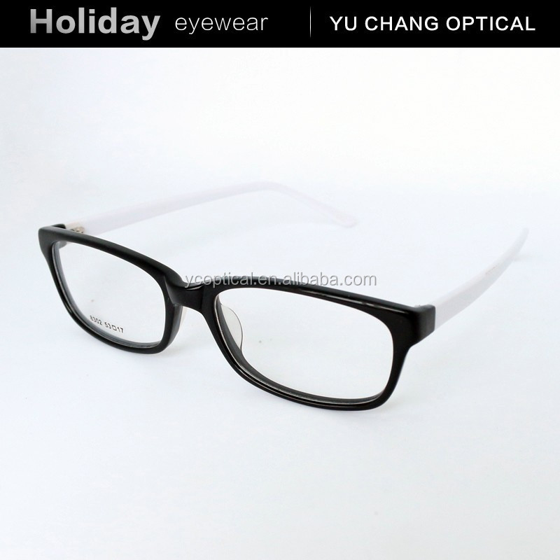 2015 black oval acetate eyewear optical frame eye glasses