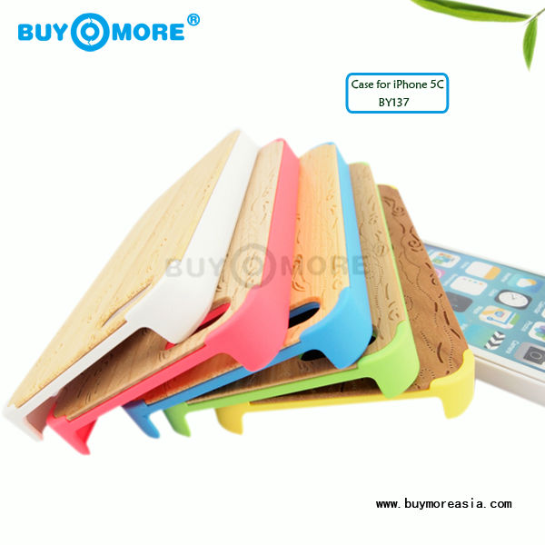 From Alibaba China New Style Colorful PC Real Wood Cell Phone Cover Case For iPhone5c 5s 6 6s plus OEM ODM Laser Engraving