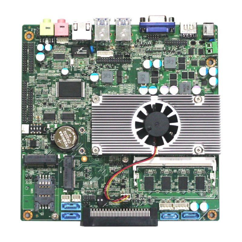 linux arm mini computer board 1037u motherboard with RJ45 Ethernet port,1*OPS,2*MINI PCIE for WIFI/3G