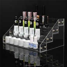 Clear Acrylic 4 Tiers 32 Bottles Detachable Nail Polish Organizer Display Makeup Stand Rack Display Storage Case Box