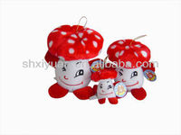 Cute plush mushrooms toy