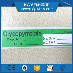 Clear adhesive transfusion label private transfusion label
