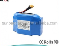 High quality 4400mah 18650 lithium motorcycle/ wheelchair battery pack 36v 4.4ah electric unicycle battery
