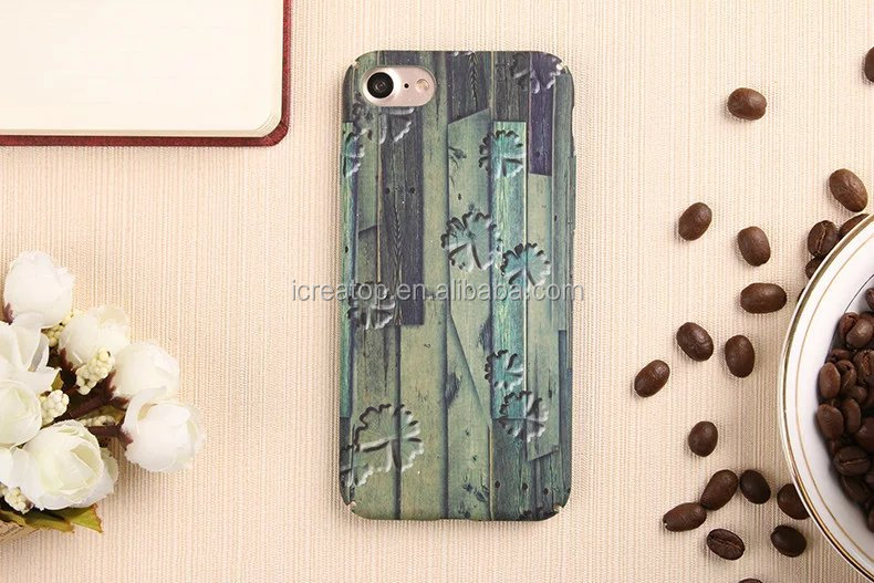 New design Classic Retro Wood Grain Style Soft PC Cell Phone Case cover for iPhone 7,mobile phone shell,case smartphone