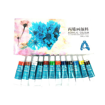 Wholesale Watercolor Artist Oil Acrylic Leather Paint Set Acrylic Paint