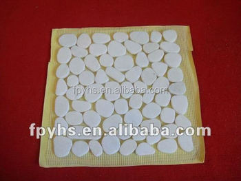 river stone pebbles tile on mesh