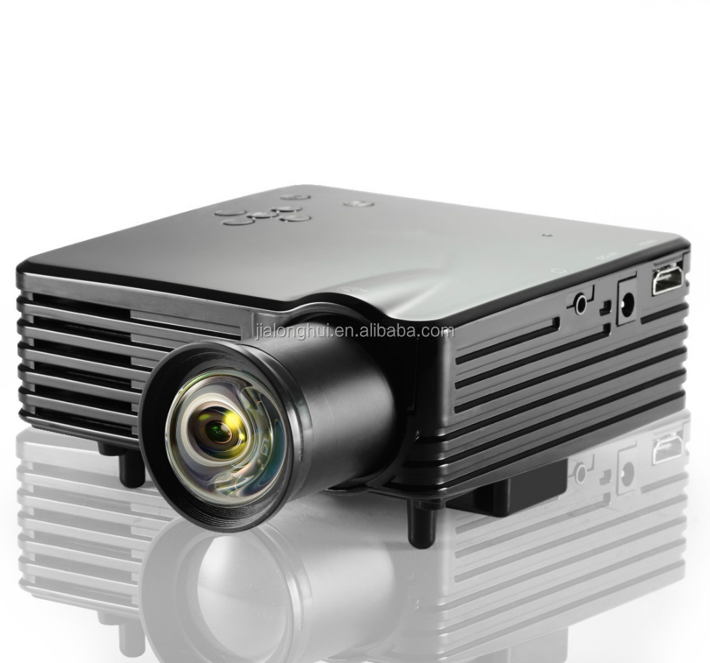 Cheap mini protable led projector 7S new short throw lens upgrade, 480x320Pixels up to full hd,micro projector for home
