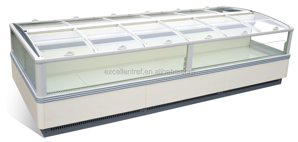 Low price CE Certification and Single-temperature Style island freezer for sale