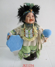 Promotional Indian style hand made porcelain dolls with high quality