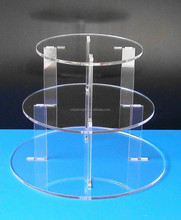3 Tier Clear Acrylic Cupcake Stand 3 Tier 5mm Thick Acrylic Wedding Party Favour Cupcake Cake Stand