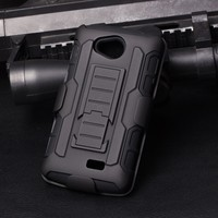 IN STOCK!!Future Armor Holster Rugged Hard Case + Belt Clip Holster Stand Cover For LG Tribute LS660 F60 Cell Phone Case