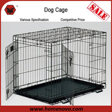 2015 Hot Sales Wire Mesh Portable 63x48x55cm Metal Dog Cage With Two Doors