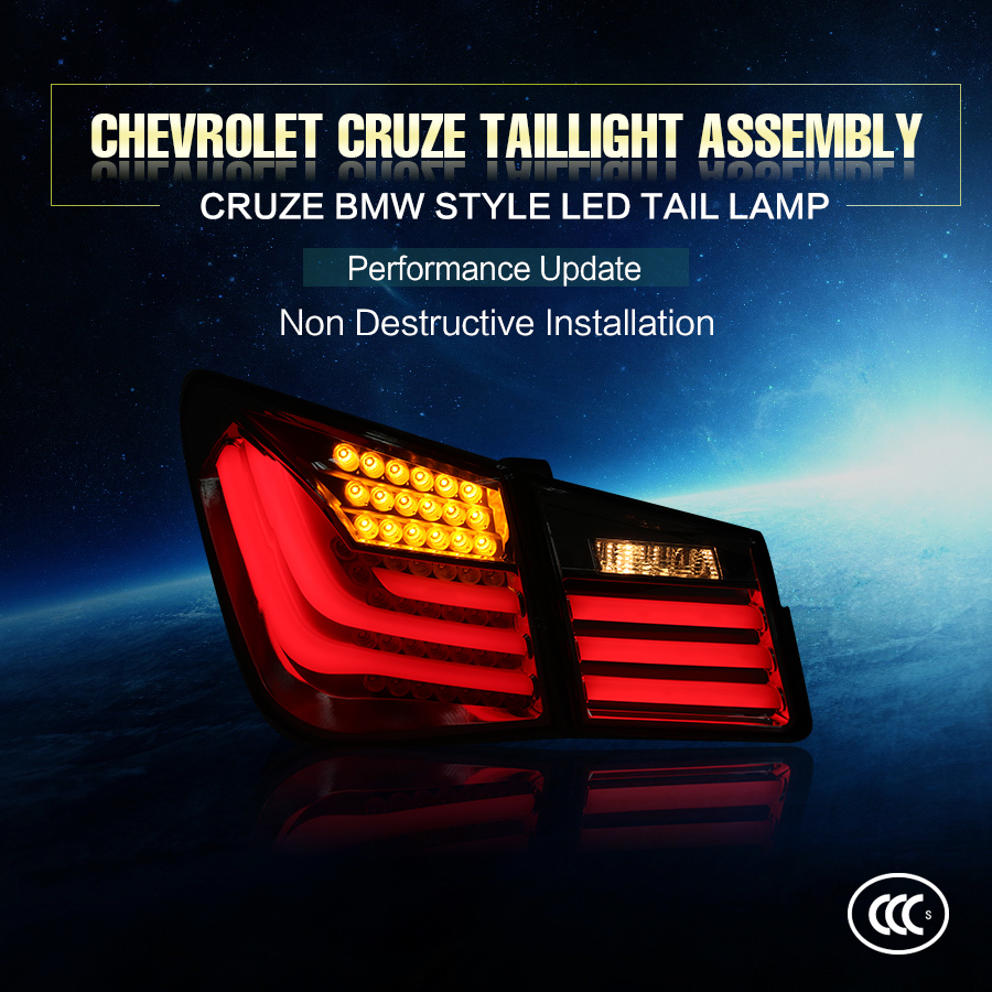Factory direct provide chevrolet cruze accesorios led modified tail light for 2013~2014 year cruze red color