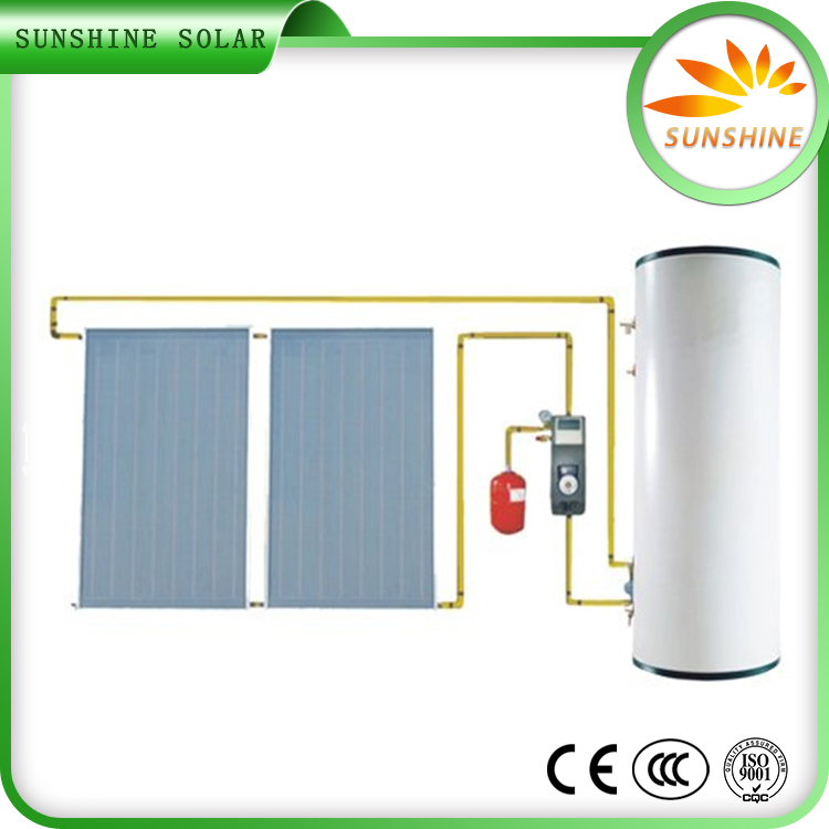 Factory Price Best Efficiency Pressurized Flat Plate Solar Water Heater Collector